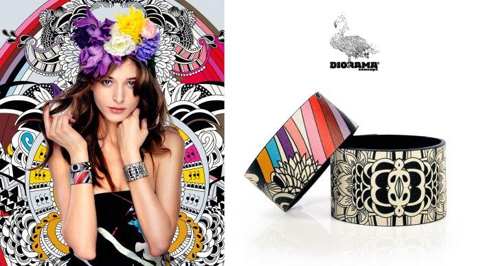 Diorama-concept-Fashion-Bracelet-printed-leather-Royal-Deco-logo